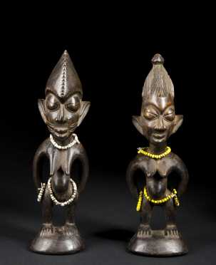 A pair of ibeji figures