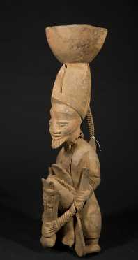 A fine and early Yoruba Verandah post, Adeshina carving family.