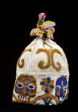 A fine and old beaded Yoruba coronet