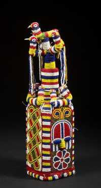 A lovely Yoruba beaded bottle