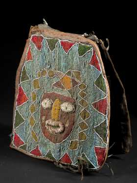 A Yoruba beaded Diviner's bag