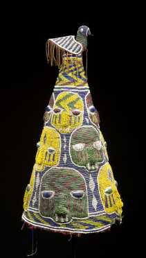 A Yoruba beaded crown