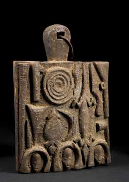 A fine and old Igbo or Igala shrine panel