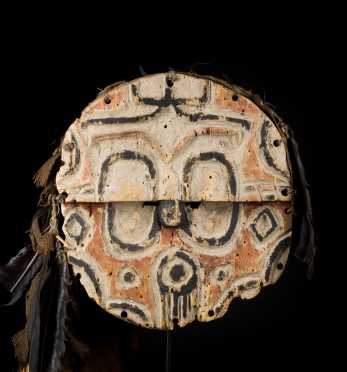 A fine and old Teke or Tsaye disk mask