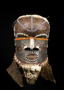 A Fine Kuba Bwoom helmet mask