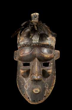 A fine and rare Kuba-Binji mask