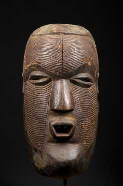A fine and rare Kasai Luba mask