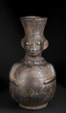 A Mangbetu ceramic vessel