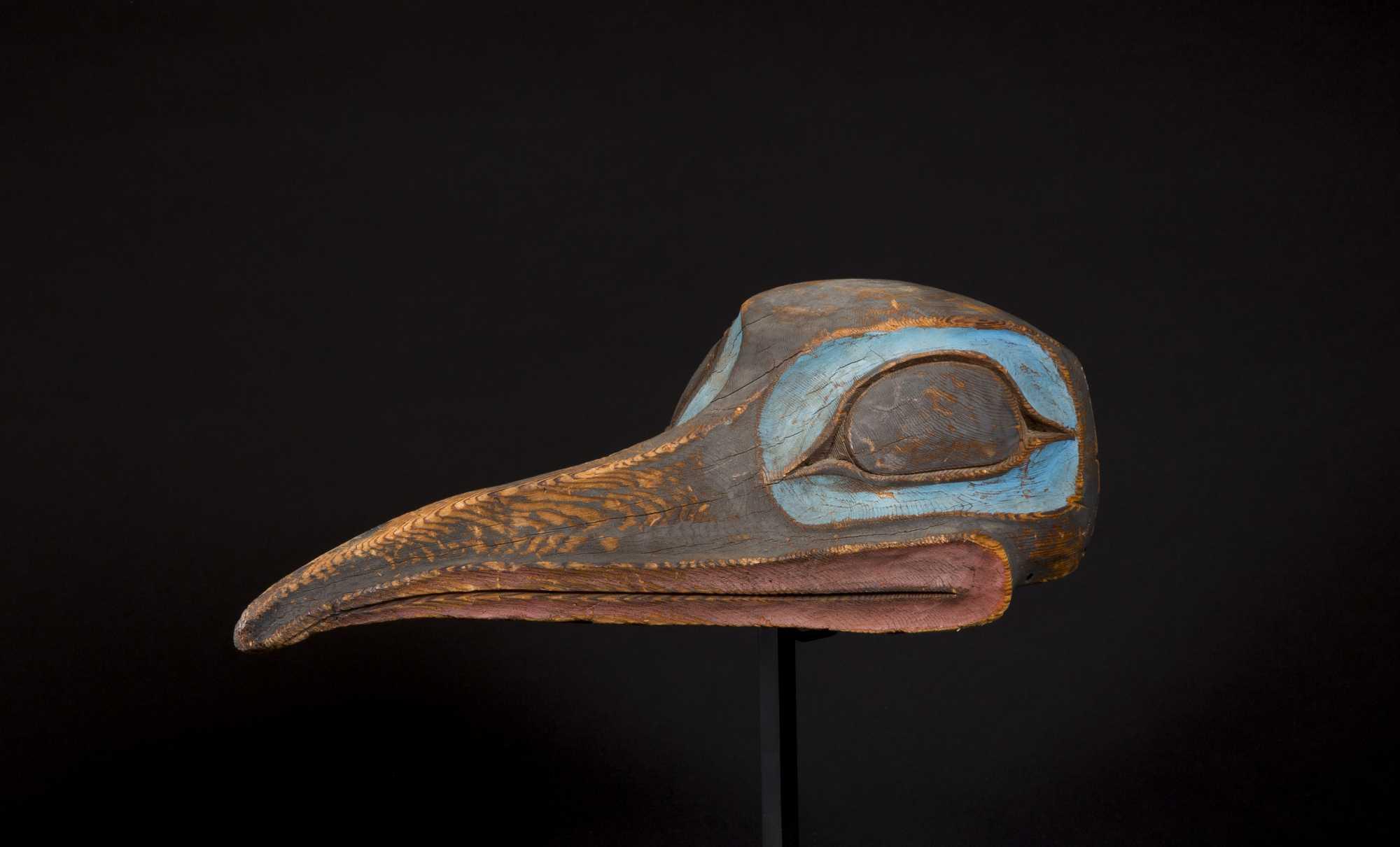 A Rare And Beautiful Tlingit Raven Mask