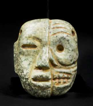 A Superb Teotihuacan stone Life/Death maskette