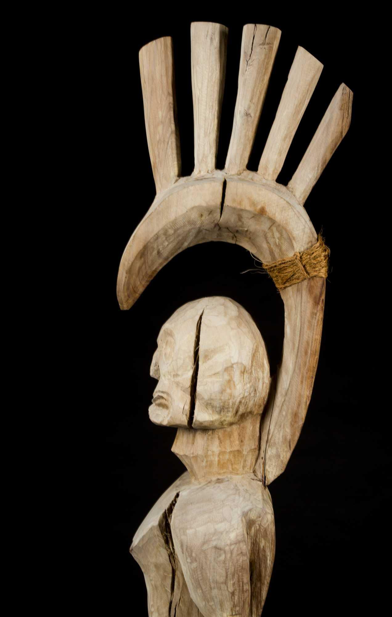A Fine Hawaiian revival period post-statue of the god Lono