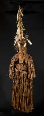 An exceptional and rare Asmat dance costume