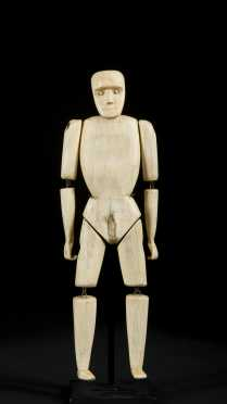 A fine and unusual Alaskan Inuit articulated figure