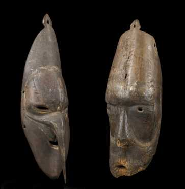 A Fine pair of Sepik Plains masks