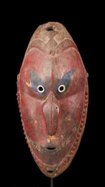 A Fine and old Lower Sepik or Ramu mask
