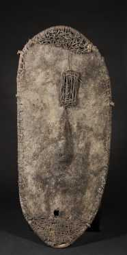 A Fine and rare Washkuk Boar's skin shield
