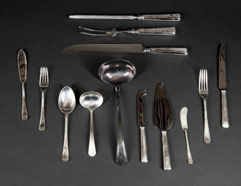 """Carrs"" Sterling Silver Table Service For 12"