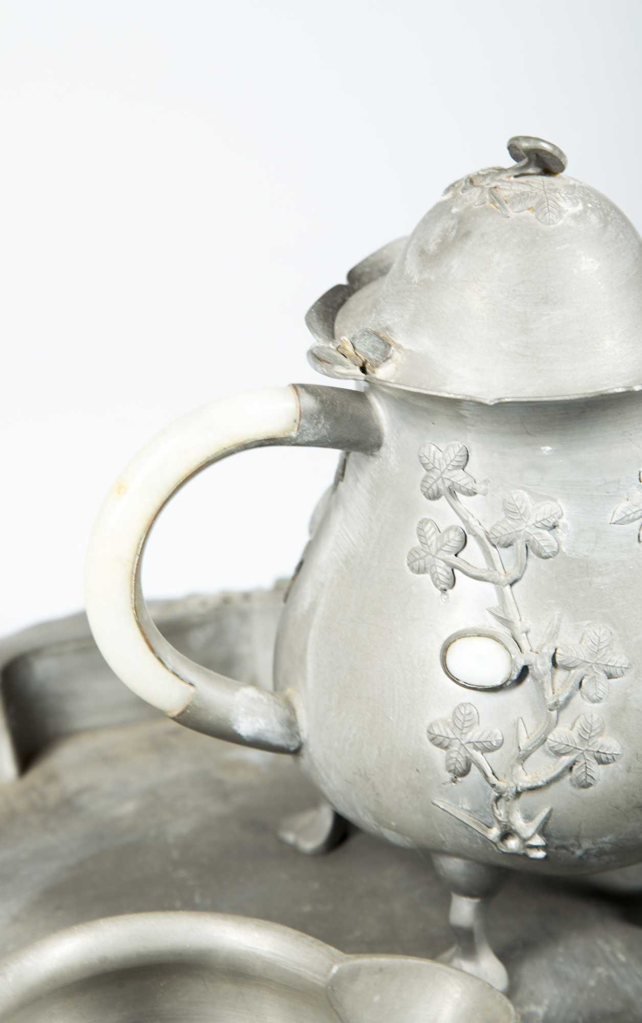 how to clean pewter tea set