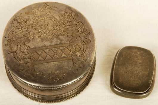 Two Silver Boxes