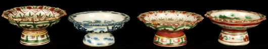 Four Chinese Porcelain Sauce Dishes