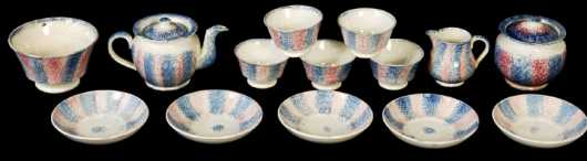 Spatterware Tea Service