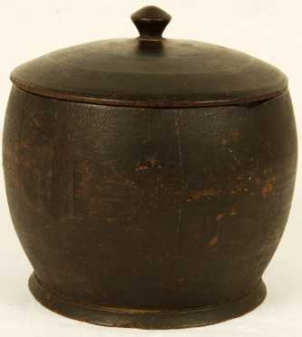 19th Century Treen Covered Bowl