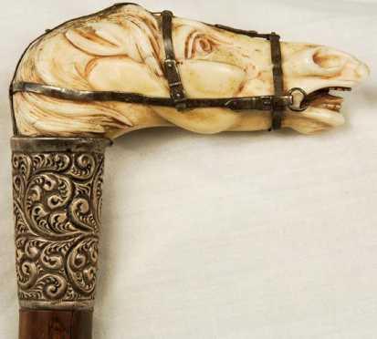 Ivory Horse Head Cane