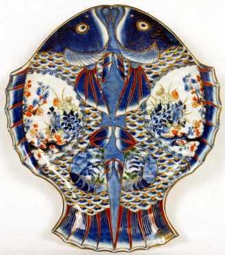 Japanese Imari Double Fish Plate