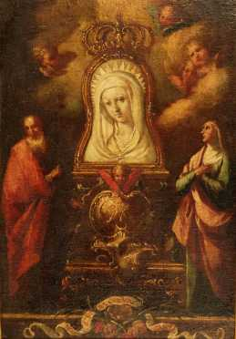 "Jose Vergara Y Ximeno, Attributed oil on canvas of the ""Virgin Mary"""