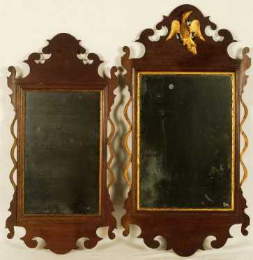 Two Similar Chippendale Mirrors