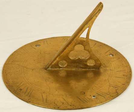 Brass Sundial Dated 1630