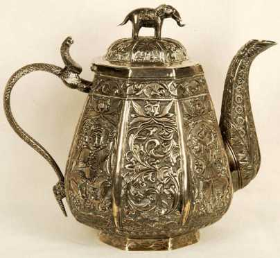 Indian Export Silver Teapot