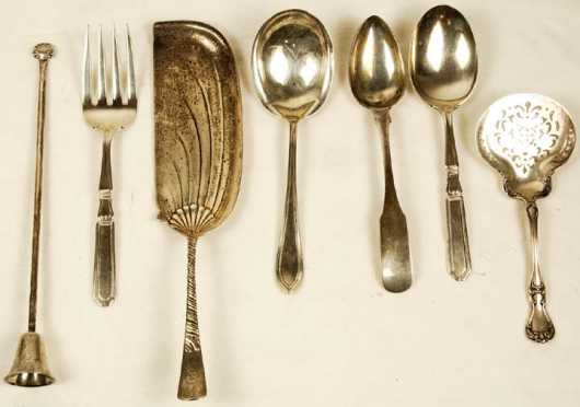 Seven Sterling Serving Pieces