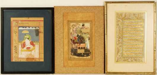 Three Persian Illuminated Drawings