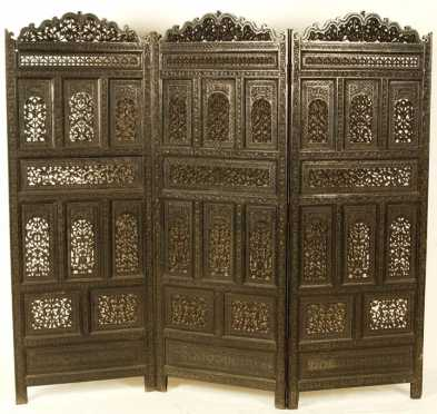 Three Paneled 19th century Screen