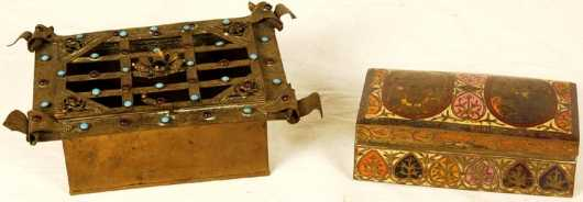 19th century Bronze Boxes
