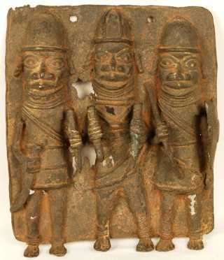 Benin Kingdom Brass Plaque