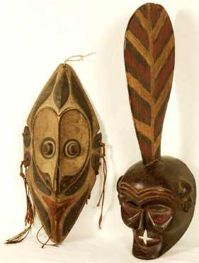 Lot of Two Tribal Masks
