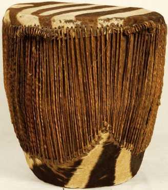 African Zebra Skin Drum