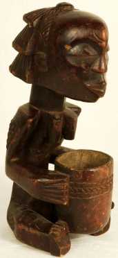 African Wooden Carving of a female figure