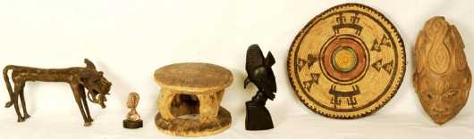 Lot of Six African items