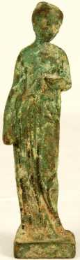 Bronze Roman Antiquity, cast in the form of a standing female figure