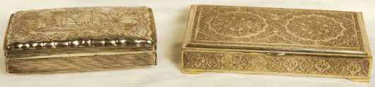 Two Silver Cigarette Boxes