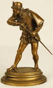 Emile Coriolan Hippolyte Guillemin, bronze statue of a cavalier