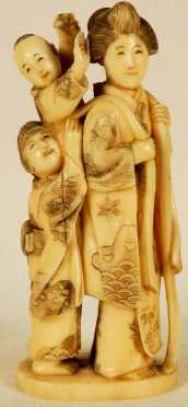 Japanese Ivory Carving of a Woman