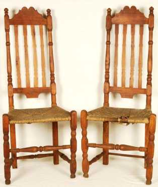 Pair of Bannister Back Side Chairs