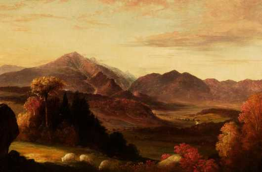 Benjamin Champney Attributed oil on canvas