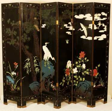 Chinese Six panel Double Sided Screen