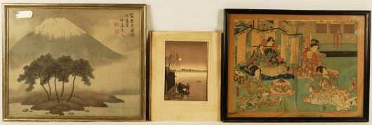 Lot Of Three Japanese Prints
