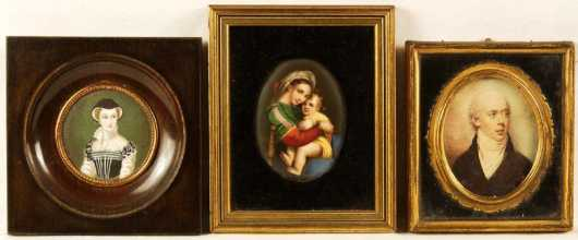 Three Miniature Paintings